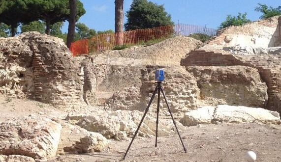 Faro Focus at Portus. Image from Stephen Kay