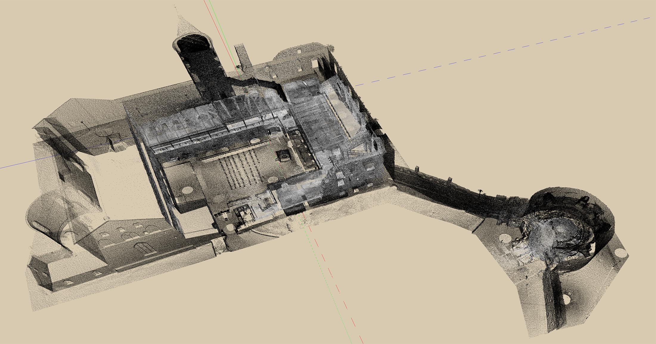 Pointcloud of Haapsalu Episcopal Castle