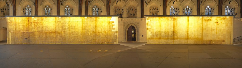 The Ethics of Dust at Westminster Hall (2016), Jorge Otero-Pailos. An Artangel commission. Photo by Marcus J Leith